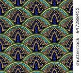 seamless paisley pattern.... | Shutterstock .eps vector #647288452