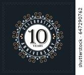 10 years anniversary design... | Shutterstock .eps vector #647290762