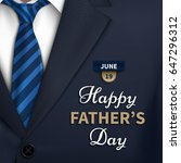 happy fathers day greeting.... | Shutterstock .eps vector #647296312