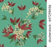 seamless floral pattern in... | Shutterstock .eps vector #647298436