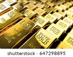 Pile Of Gold Bars Or Ingots ...