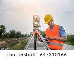 young engineer man is using... | Shutterstock . vector #647310166