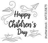 doodle childrens day style... | Shutterstock .eps vector #647315875