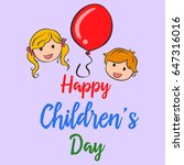 happy childrens day cute style... | Shutterstock .eps vector #647316016