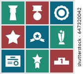 winner icons set. set of 9... | Shutterstock .eps vector #647320042