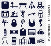 fitness icons set. set of 25... | Shutterstock .eps vector #647320066