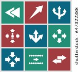 set of 9 forward filled icons...