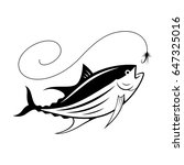 graphic fishing tuna  vector | Shutterstock .eps vector #647325016