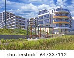 Modern Apartment Buildings Wit...