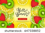 hello summer. tasty season.... | Shutterstock .eps vector #647338852