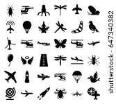 fly icons set. set of 36 fly... | Shutterstock .eps vector #647340382