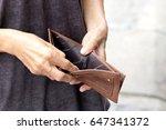 elderly hand open pocket  no... | Shutterstock . vector #647341372