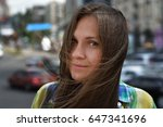 portrait of girl in city | Shutterstock . vector #647341696