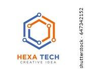 hexagon technology logo | Shutterstock .eps vector #647342152