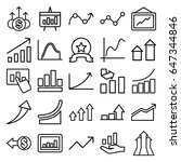 increase icons set. set of 25... | Shutterstock .eps vector #647344846