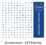 universal web icon set clean... | Shutterstock .eps vector #647346766