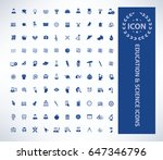 education icon set clean vector | Shutterstock .eps vector #647346796