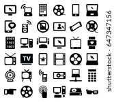 screen icons set. set of 36... | Shutterstock .eps vector #647347156