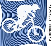 white silhouette of bicyclist... | Shutterstock .eps vector #647351452
