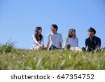 japanese young   group outdoor... | Shutterstock . vector #647354752