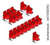 Cinema Or Theater Seats Row Se...