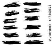ink vector brush strokes set.... | Shutterstock .eps vector #647360818