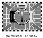 old tv test screen | Shutterstock .eps vector #6473656