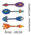 tribal arrows collection with...