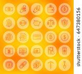 line bitcoin web icons. vector...   Shutterstock .eps vector #647380156