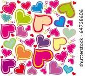 valentine's day. seamless... | Shutterstock .eps vector #64738606