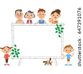 frame three generation family | Shutterstock .eps vector #647391076