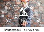smart oil gas industry 4.0. iot ... | Shutterstock . vector #647395708