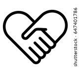 heart care vector icon | Shutterstock .eps vector #647401786
