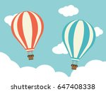 two hot air balloon with cloud... | Shutterstock .eps vector #647408338