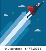 a businessman with red cape to... | Shutterstock .eps vector #647410396