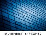 closeup of glass wall of modern ... | Shutterstock . vector #647410462