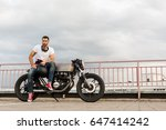 rider man with beard and... | Shutterstock . vector #647414242