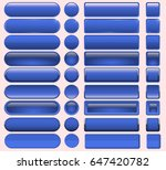 buttons blue  many  for website ... | Shutterstock .eps vector #647420782
