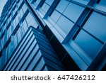 closeup of glass wall of modern ... | Shutterstock . vector #647426212