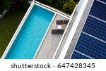 top view of outdoor swimming... | Shutterstock . vector #647428345