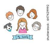 vector illustration draw... | Shutterstock .eps vector #647429992