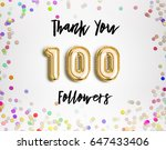 100 or one hundred  thank you... | Shutterstock . vector #647433406
