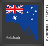 south australia map with... | Shutterstock .eps vector #647434468