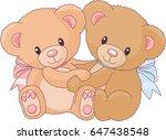 cute_teddy_bear_vector_illustrat... | Shutterstock .eps vector #647438548