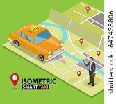 smart taxi order service app... | Shutterstock .eps vector #647438806