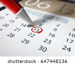 specific date marked with a... | Shutterstock . vector #647448136