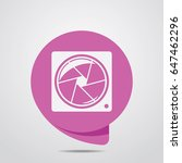 camera icon. flat style for...