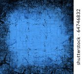 Blue abstract textured - stock photo