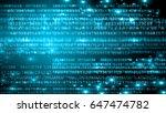 digital background. secure... | Shutterstock . vector #647474782