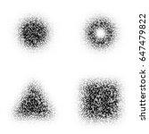 halftone pixelated geometric...   Shutterstock .eps vector #647479822